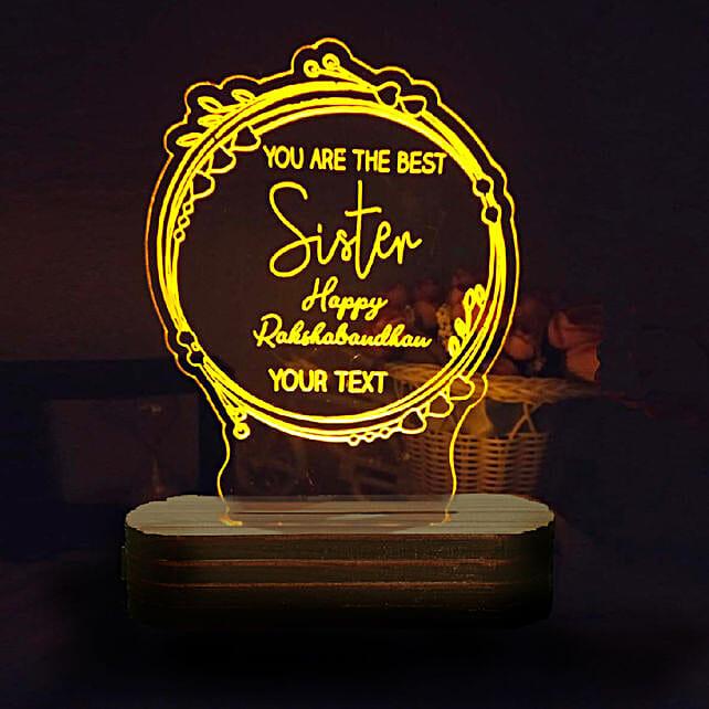 Personalised Night Lamp For Sister: Personalised Lamps