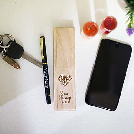 Personalised Pen In Foldable Box For Sis: Personalised Engraved