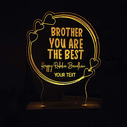 Personalised Night Lamp For Best Brother: Personalised Lamps