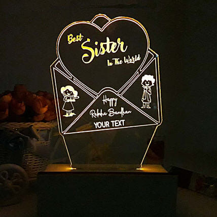 Personalised Night Lamp For Best Sister In World: Personalised Lamps