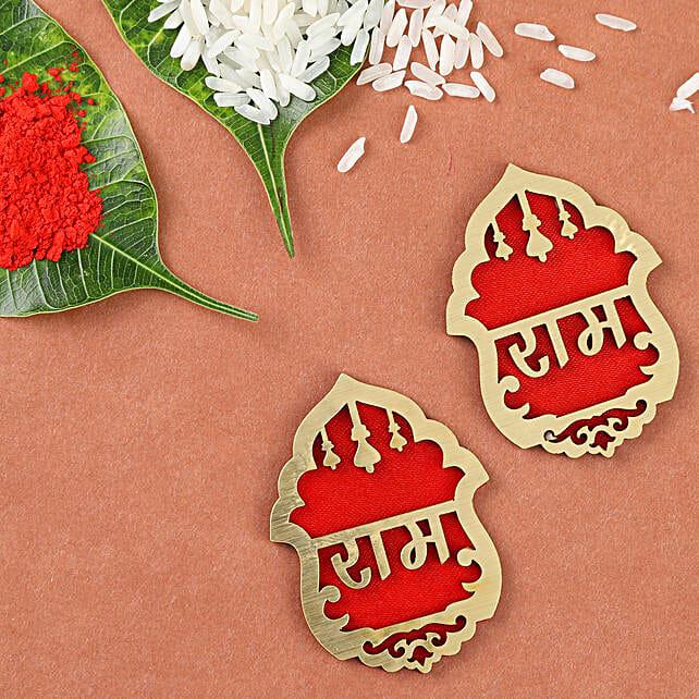 Auspicious Ram Ram Door Soan Set: Rakhi