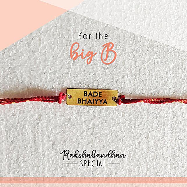For Your Bade Bhaiya Quirky Rakhi & Card: Send Rakhi to Patiala
