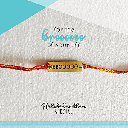 For Your Brooo Quirky Rakhi & Card: Send Rakhi to Raipur