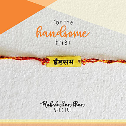 Handsome Bro Quirky Rakhi & Card: Rakhi to Mango