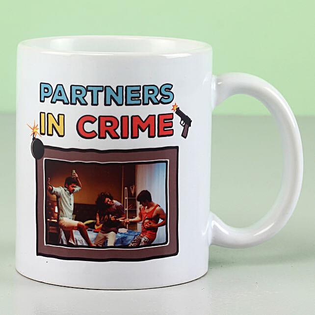 Personalised Partners In Crime Mug: Personalised Mugs