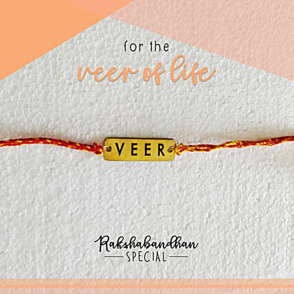 For Your Veer Quirky Rakhi & Card: Send Rakhi to Navasri