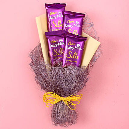 Dairy Milk Silk Chocolate Bouquet: Send Chocolate Bouquet