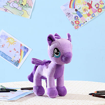 Appealing Purple Pony Soft Toy: Soft Toys Gifts