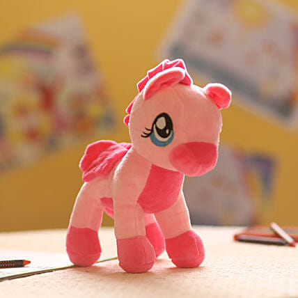 Baby Pink Pony Soft Toy: Send Soft Toys