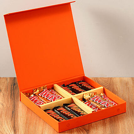 Chocolaty Orange Gift Box: Best Gifts to India