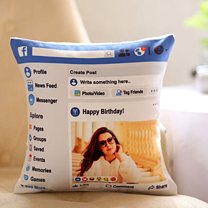 Personalised Facebook Birthday Cushion: Cushions