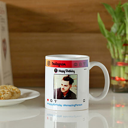 Personalised Instagram Birthday Mug: Custom Photo Coffee Mugs