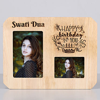 Classy Personalised One Personalised Wooden Frame-Birthday: