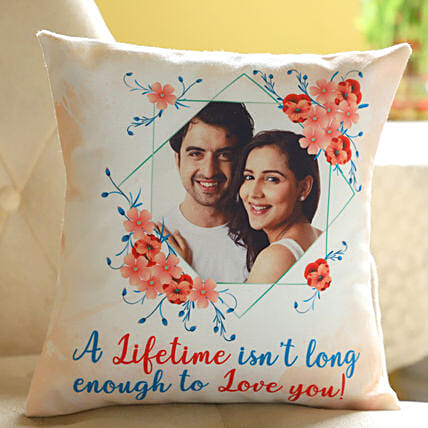 Lifetime Love Personalised Cushion: Karva Chauth Gifts India