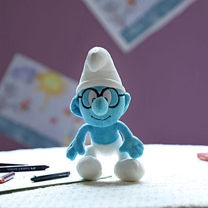 Smurf Smurf With Glass 20 Cm: Send Soft Toys