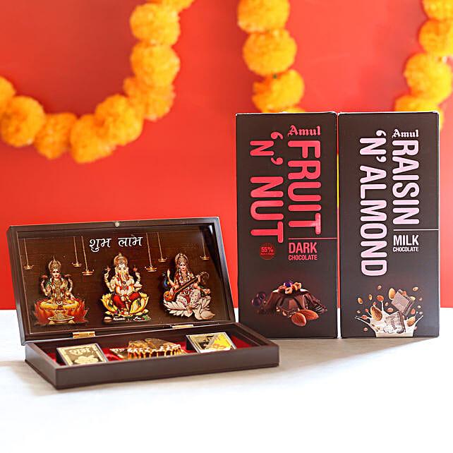 Chocolate with Spiritual Gift Box: Pooja Boxes