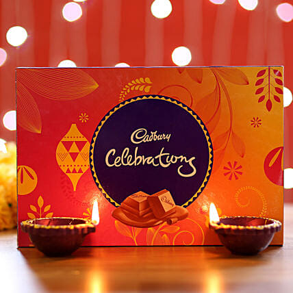 Cadbury Celebrations Box & Diyas: Diyas