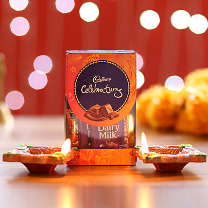 Cadbury Celebrations Pack & Diyas: Send Diyas