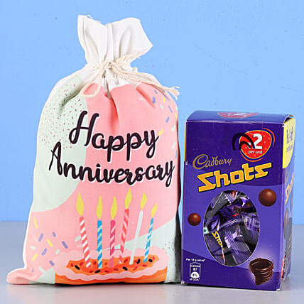 Cadbury Shots & Anniversary Gunny Bag: Cadbury Chocolates