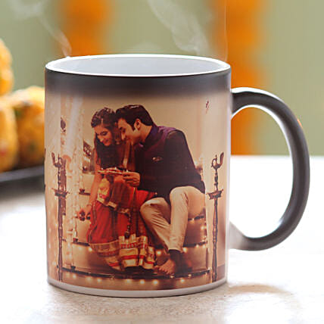 Personalised Festive Magic Mug: Custom Photo Coffee Mugs