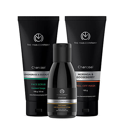 The Man Company Charcoal Cleansers Trio: Cosmetics & Spa Hampers