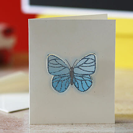 Blue Butterfly Greeting Card: Friendship Day Gifts