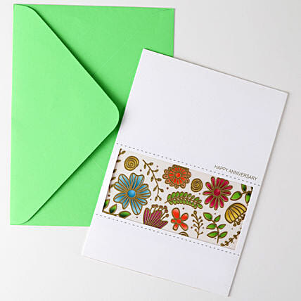 Happy Anniversary Floral Greeting Card: Greeting Cards