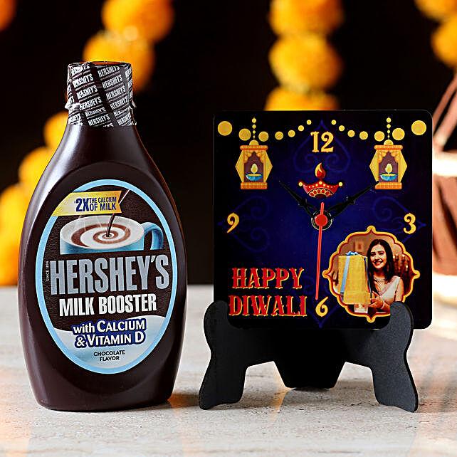 Personalised Table Clock & Hershey's Milk Booster: Clocks