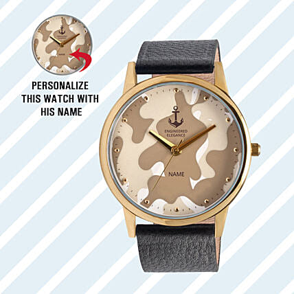 Personalised Camouflage Dial Watch For Him: