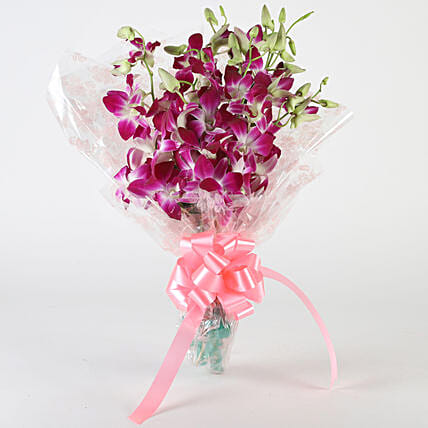 10 Royal Orchids Bunch: