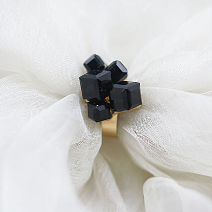 Black Crystalline Ring: Buy Rings