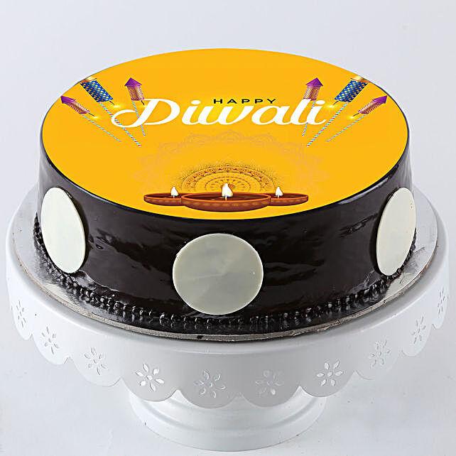 Diwali Special Chocolate Photo Cake: Deepavali Gifts