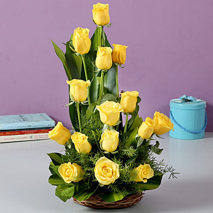 Sunshine Yellow Roses Bouquet: Send Flowers for Parents Day