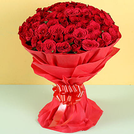 Hot Red: Roses for anniversary
