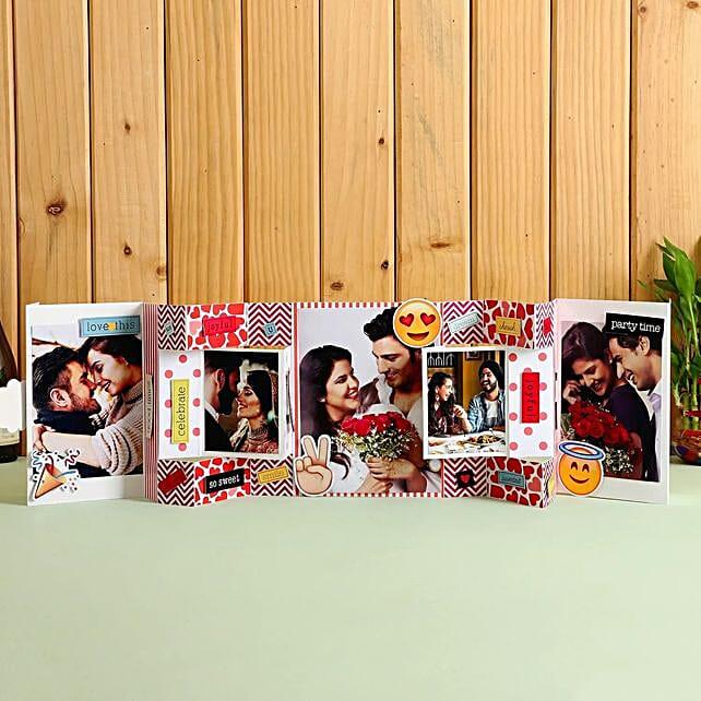 Hugs & Kisses Photo Greeting Card: Explosion Gift Box