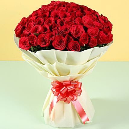 Grand Romance 100 Red Roses: Send Flower Bouquets