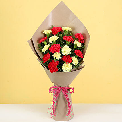 Lovely Carnations Bouquet: Send Carnations