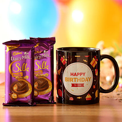 Birthday Mug & Mocha Caramello Chocolate:
