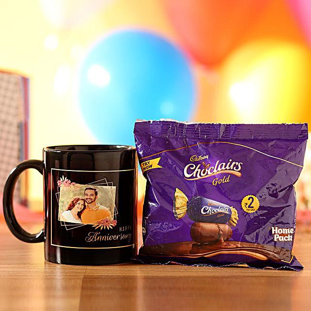 Chocolairs Personalised Anniversary Mug Wishes: Chocolate Combos