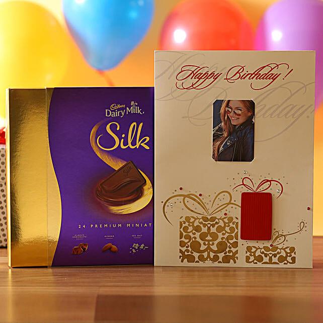 Personalised Birthday Card & Silk Miniatures: