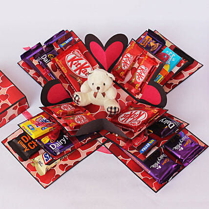 Chocolate Explosion Box: Chocolate Gifts in India