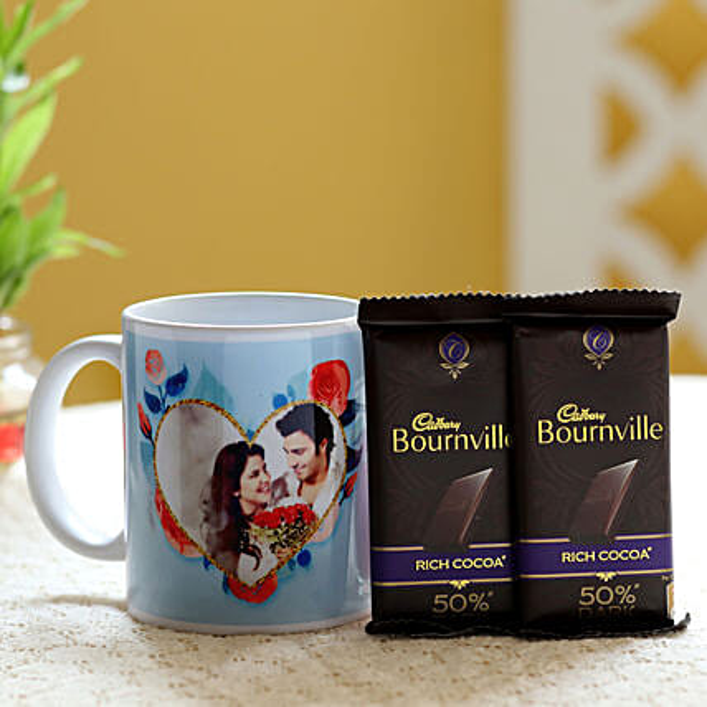 Personalised Mug & Bournville Dark Chocolates: Coffee Mugs