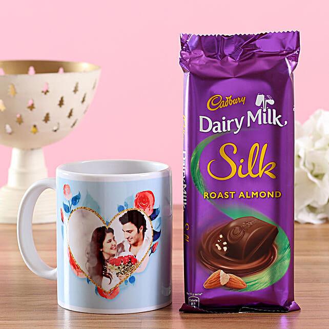 Personalised Mug & Silk Almond Combo: Cadbury Chocolates