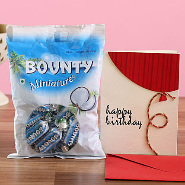 Bounty Chocolate Birthday Greetings: Chocolates Shopping India