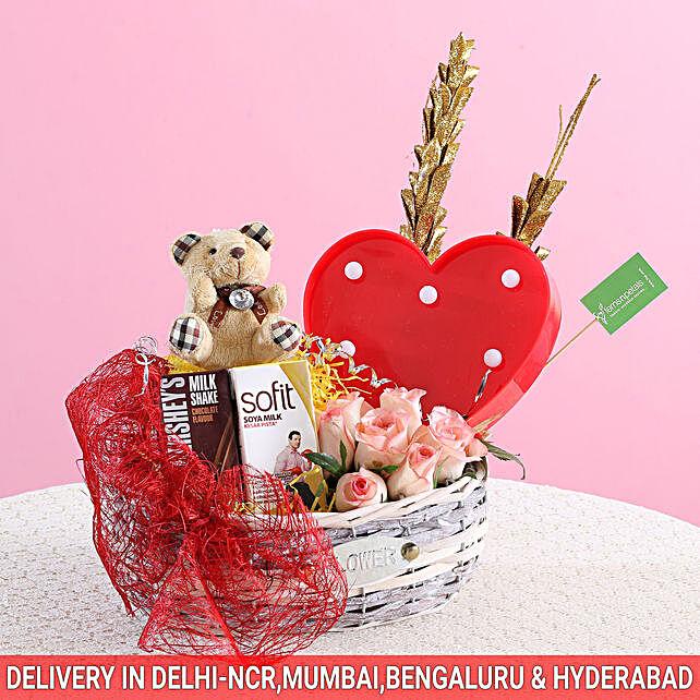 Love Forever Basket: Promise Day Soft Toys