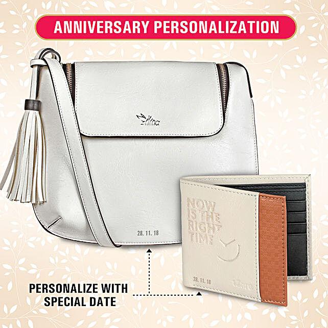 Personalised His & Her White Bag Combo: Buy Handbags