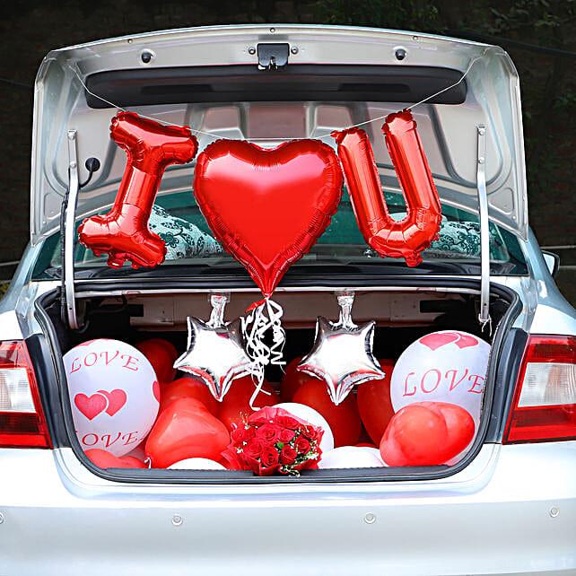 Marriage Wedding Car Decoration Car Flower Decoration Ferns N