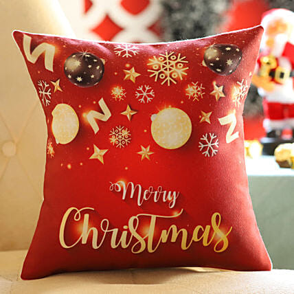 Red Xmas Wishes Cushion: All Christmas Gifts