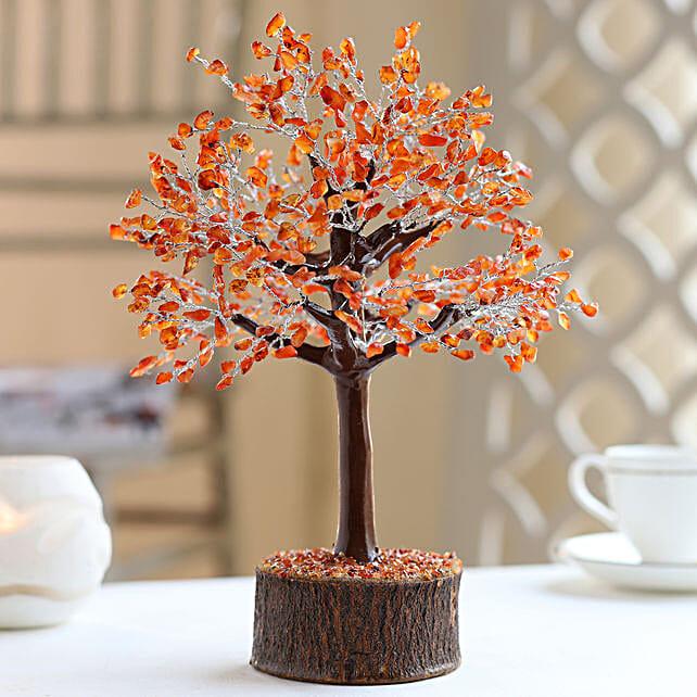 "Carnelian Gemstone Wishing Tree 12.5"": Christmas Tree"