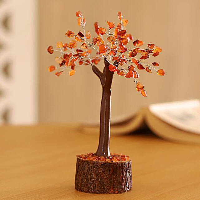 "Carnelian Gemstone Wishing Tree 7.5"": Christmas Tree"